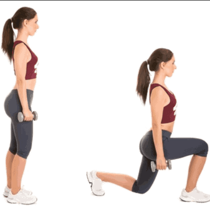 Lunges- 10 Best Fat Burning Workouts for Quick Weight Loss