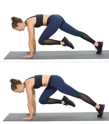 Mountain Climbers- 10 Best Fat Burning Workouts for Quick Weight Loss