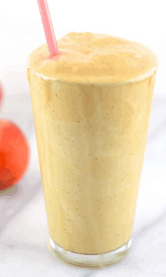 Peaches and Cream Shake- Protein Shake Recipes for Weight Loss
