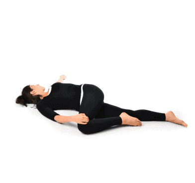 Reclining Knee Bent Twist- Best Yoga Exercises for Knee Joint Pain Relief