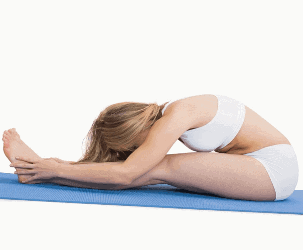 Seated Forward Bend to relieve stress, anxiety and depression