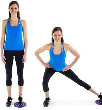 Side Lunge Shift-Exercise to get a firm buttocks