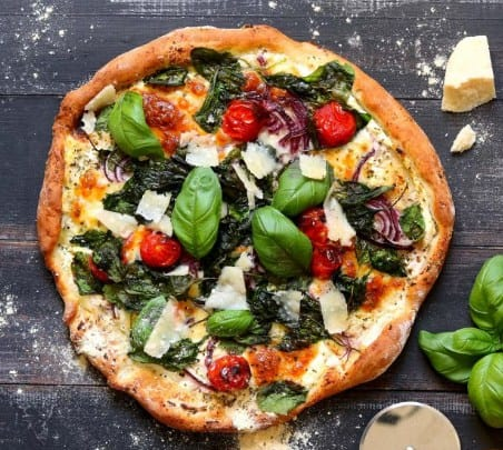 Spinach Tomato Meatza Pizza Recipe that Keeps Your Fat Off Long-Term