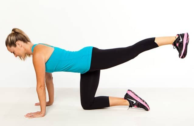 Squat With Kick Back- Workout for Butt Lift