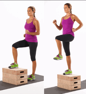 Step Ups- Best Exercises for Knee Pain, Swelling and Stiffness Relief