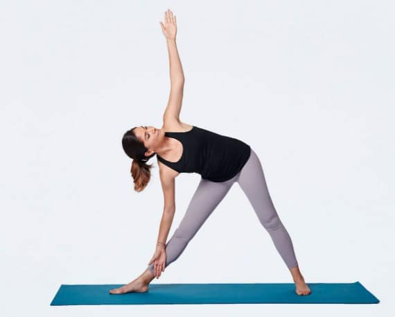 The Triangle Pose- 8 Best Yoga Exercises for Knee Joint Pain Relief At Home