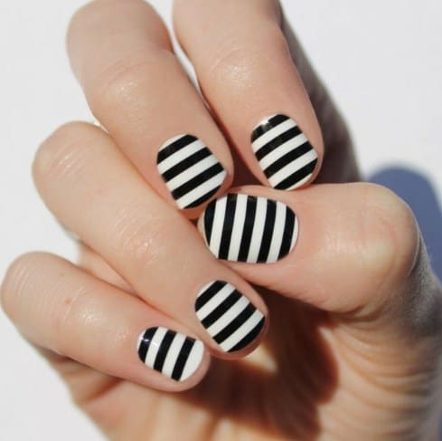 Thin Stripy Nails - Useful Nail Polish Hack