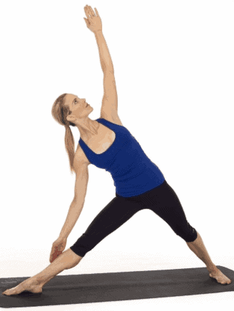 Triangle Yoga Pose to lift breasts