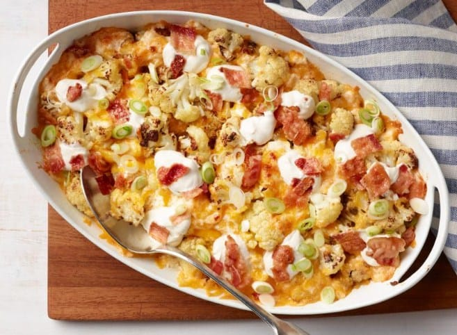 Loaded Cauliflower- 8 Ketogenic Diet Recipes To Help You Lose Weight