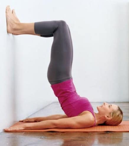 Wall Bridge- Exercises To Firm And Tone Your Bum