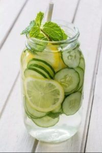 Ginger, Cucumber, Lemon- Mint Infused Water  for Shedding Pounds
