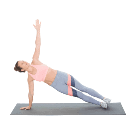 rolling plank-10 Best Exercises to Get Rid of Muffin Top & Side Fat Really Fast at Home