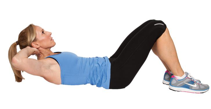 Crunches-Best Exercises to lose belly pooch