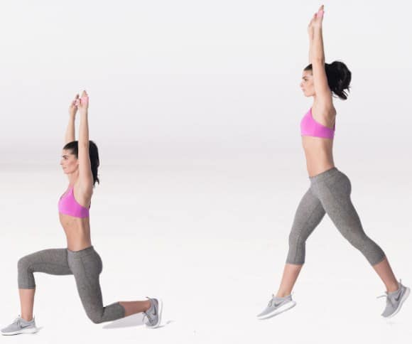 Jumping Lunges- 10 Best Exercises to Get Rid of Muffin Top & Side Fat Really Fast.