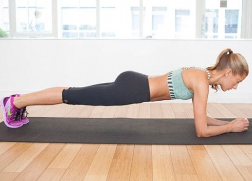 Plank- Best ab workouts you can do at home
