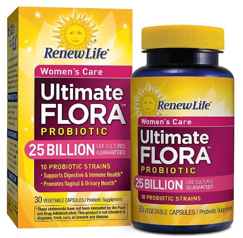 Renew Life Ultimate Flora Probiotic Women's Care- Probiotic Supplements For Digestive Health