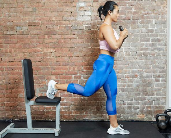 Split Squats- How to Eliminate Excesses on Legs, Back of Thighs and Bum Fast in 7 Days