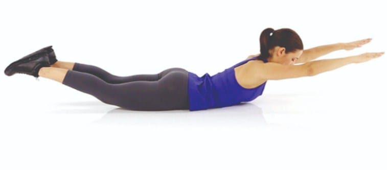Superman Pose- Exercises for reducing belly fat