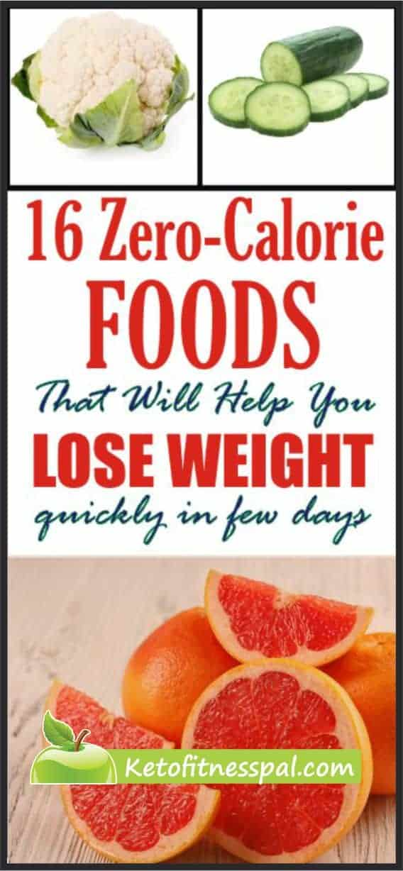Doing away with calories will fasten your weight loss journey. Did you just say you don't know zero calories food? Check them out here.