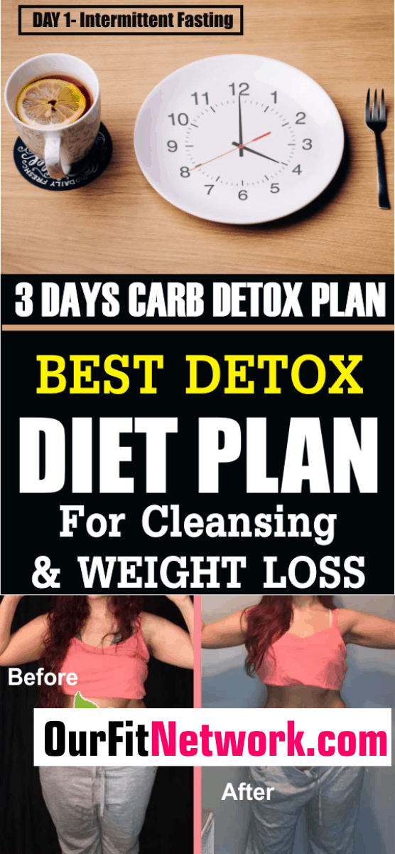 Looking for a quick diet plan for body cleansing and detoxification? Here are carb detox plan for 3 days. Try out these diet plan and be sure to lose pounds in a short while.