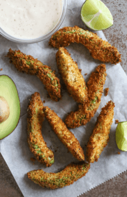 Avocado Fries - 16 Easy and Quick Low Carb Keto Appetizers