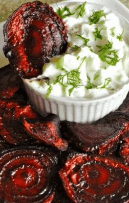 Beet Chips and Dip- Healthy Low-Calorie Snacks for Weight Loss