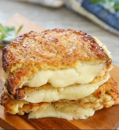 Cauliflower Crusted Grilled Cheese Sandwiches For Quick Weight Loss