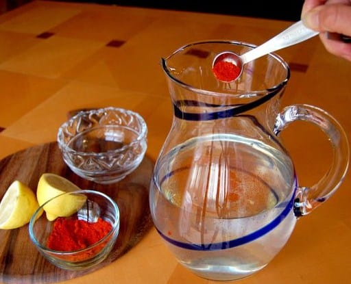 Cayenne Pepper and Lemon Water- 10 Best Lemon Water For Weight Loss Cleanse Recipes