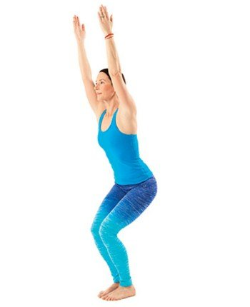 Chair Pose Close-Best Exercises for Inner Thigh Fat