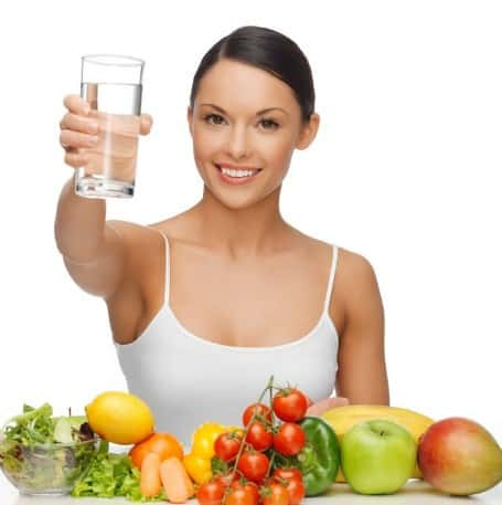 Eat Healthy and Drink Water for a firm skin
