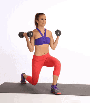 Forward Lunges with Dumbbell- Best Inner Thigh Exercises