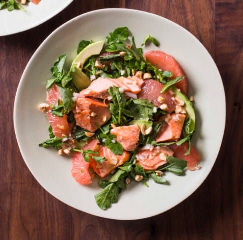 Grilled Salmon With Avocado Salad for weight loss