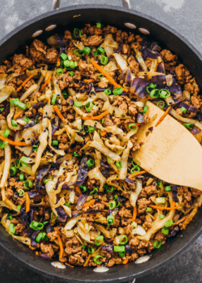 Ground Beef and Cabbage Stir Fry-30 Ketogenic dinners
