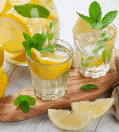 Hot Lemon Water With Mint- 11 Best Lemon Water For Weight Loss Cleanse Recipes
