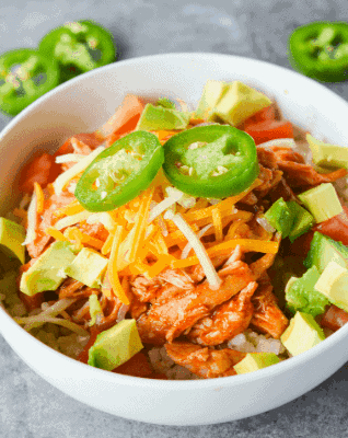 Keto Chicken Enchilada Bowl-30 Delicious Ketogenic Diets You can Make Tonight