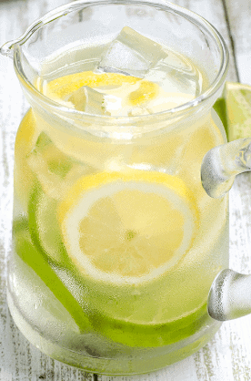 Lemon Lime Detox Water to shed some pounds