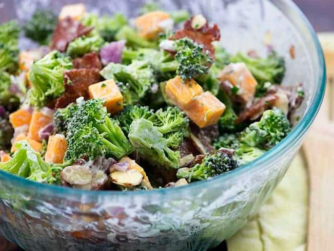 Low Carb Bacon Broccoli Salad for weight loss