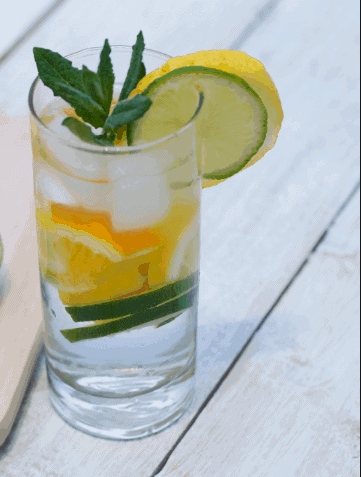 Orange, Lime and Mint Detox Water- Water Detox Recipes for Fast Weight Loss