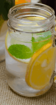 Orange Mint Water- 10 Healthy Detox Water For Weight Loss