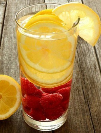Raspberry Orange Detox Water- Water Detox Recipes for Fast Weight Loss