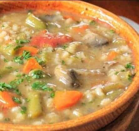 Slow Cooker Vegetable Soup with Barley for Cleansing and Fat Loss