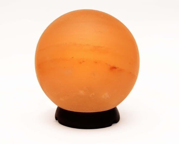 Spherical shaped Himalayan salt lamp - 14 Weirdest, Coolest & Most Unique Himalayan Salt Lamps You Can Buy Right Now