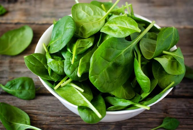 Spinach Zero calorie foods for Weight Loss