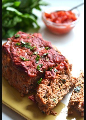 Tomato Basil Turkey Meatloaf -10 Ketogenic Diet Recipes For a Gathering