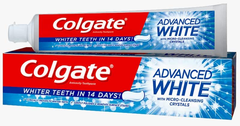 White Toothpaste for head bump