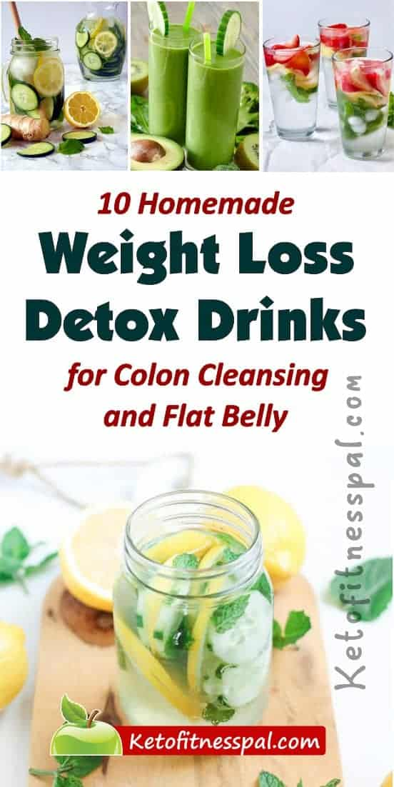 If you are looking to lose weight fast, then you should hop on the detox drink train. Here are 10 homemade detox drink recipes for improved weight loss and colon cleanse.