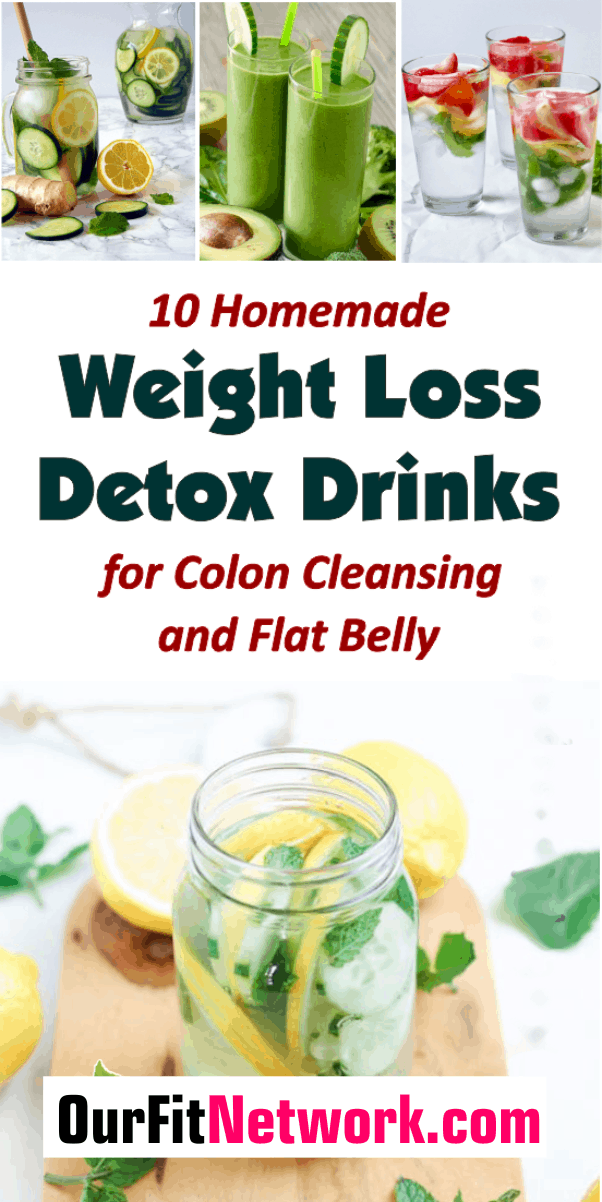 This post contains 10 best recipes for instant body detox drinks made with the readily available ingredients that help to burn fat fast. Get them now to start your weight loss journey!