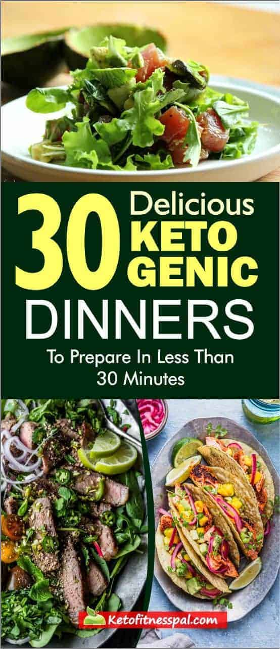 Click to discover from this list of mouth-watering ketogenic meals that you can make tonight in less than 10 minutes.