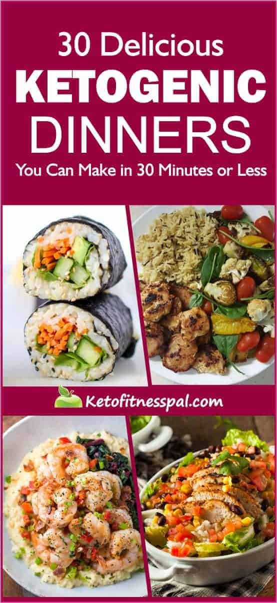 Got30minutes or lesstomake a meal? Well, here are 30 of the best and tasty ketogenicdinnerrecipes that can bemadein30minutes or less! You'll surely enjoy this collection of easy keto recipes.