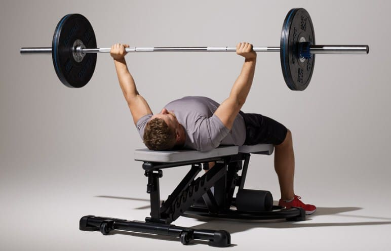 Barbell Bench Press- Workout Routines for building muscle mass and strength in the chest.